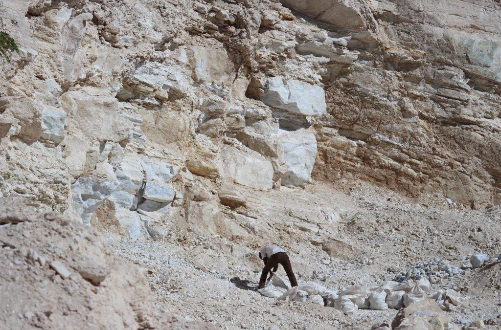 Artisanal marble mining in Kajiado